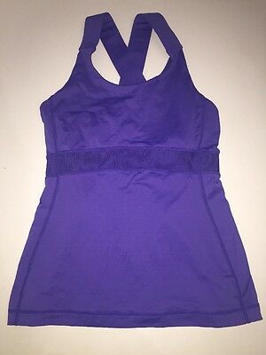 Women's Lululemon Workout Fitness Yoga Tank Top Purple Size 6