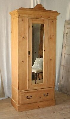 Vintage Rustic Continental French Armoire Wardrobe Larder Pantry Cupboard