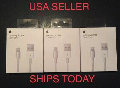 3-OEM Genuine Apple Lightning To Usb Charger Cord Cables iPhone X,8,7,6s,5s,5
