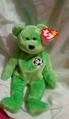 TY BEANIE BABY VERY RARE KICKS BEAR Collectible with Tag Errors.1998