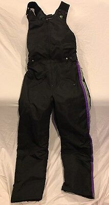 Vtg Mens MT Arctic Cat Leather Bibs Skimobile Snowmobile Snow Pants Overalls 80s