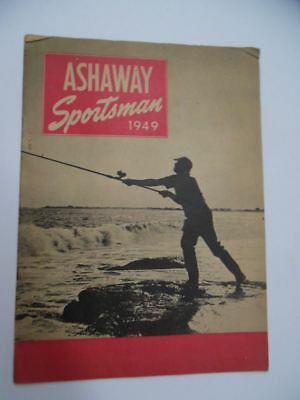 1949 THE ASHAWAY SPORTSMAN Fishing Tackle Catalog Magazine Vintage Original