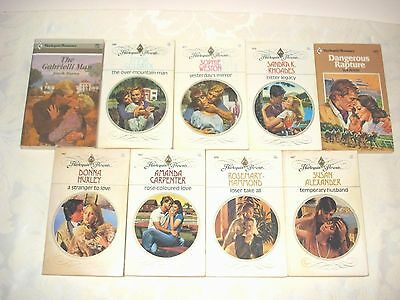 Lot Of 9 Harlequin Presents Romance Paperbacks ~ All Books From The 1980's # 10