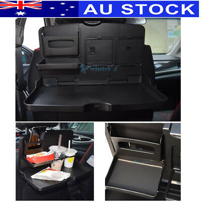Auto Car Back Seat Dining Table Drink Food Meal Cup Tray Holder Stand Desk AU