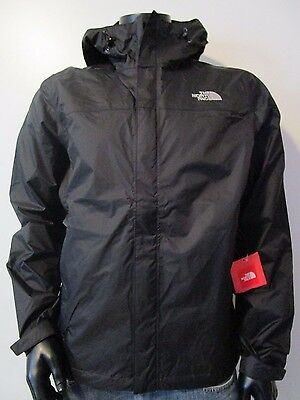 NWT Mens TNF The North Face Venture Dryvent Waterproof Hooded Rain Jacket Black