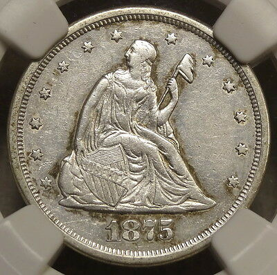 1875-S Twenty Cent Piece, Extremely Fine, NGC XF-40 - Discounted