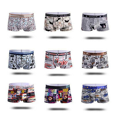 M-3XL Mens Underwear Briefs Ice silk Thin Smooth Underpants Breathable Boxer NEW