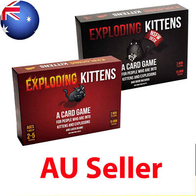 New Exploding Kittens CARD GAME –Original + NSFW Edition - AU Free Shipping