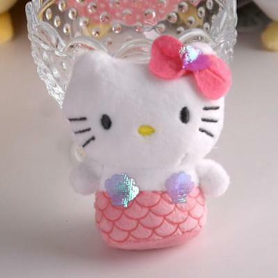 "Hello kitty cosplay mermaid stuffed plush doll dolls toy 4"" ornament new"