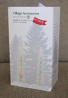 NIB Dept 56 SPARKLE & ICE TREES #809348 Village Accessories Set of 2