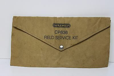 Vintage Charleswater CP636 Service Field Kit Cloth Bag Case Pouch
