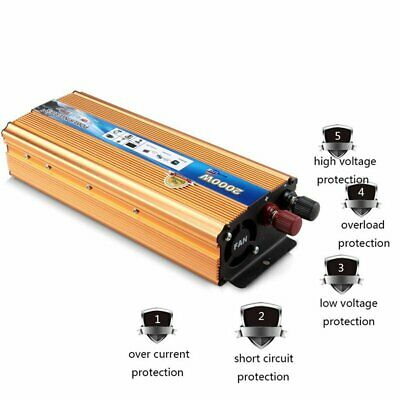 2000W (4000W) Max DC 12V AC 220V Car Converter Power Inverter Electronic Charger