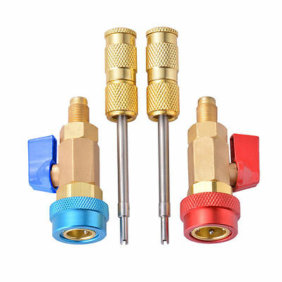 R134A Air Conditioning Valve Core Quick Remover Installer High Low Pressure Tool