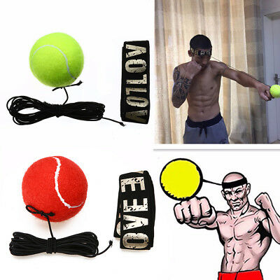 Fight Ball & Head Band For Reflex Reaction Speed Training Boxing Punch Exercise