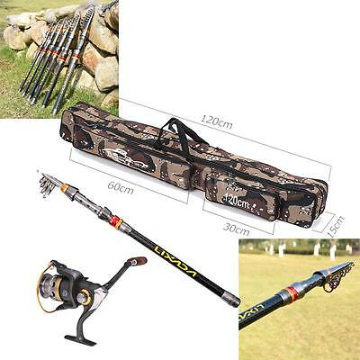 2.7M Fishing Rod and Spinning Reel Combo Telescopic Fishing Rod Reel Kit D8L8