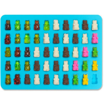 1X Mode 50 Gummy Maker Cavity Bear Form Silicone Chocolate Candy Ice Tray Tool