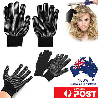 1 Pair Heat Proof Resistant Protective Gloves Hair Styling Tool Curler Straight