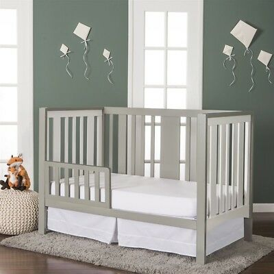 Dream On Me Havana Convertible Crib in White and Grey Transitional