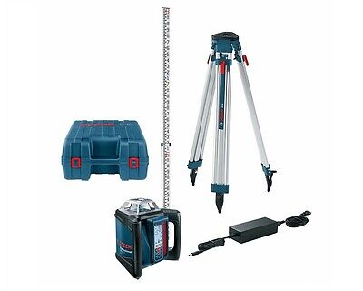 Bosch GRL 500 HCK Self-Leveling Rotary Laser w/ Rod and Tripod Package