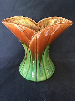 LOTUS VASE 22cm TALL x 24cm WIDE MARKED I , 11 & S TO BASE