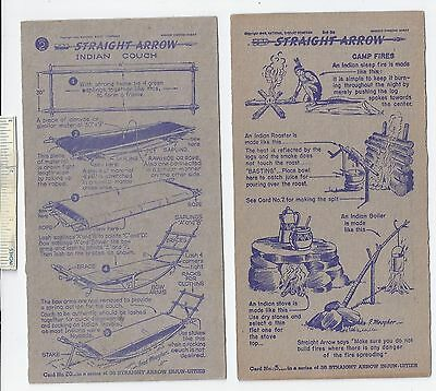 #51 Lot 5 Diff 1949 1950 52 NABISCO INJUN-UITY Cards Book #1 2 4 Straight Arrow