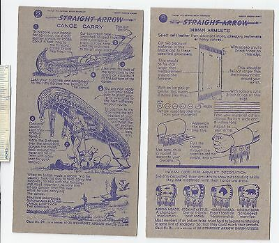 #43 Lot of 6 Diff 1950 NABISCO INJUN-UITY Cards Book #2 Cereal Straight Arrow