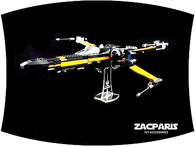DISPLAY STAND for Lego 75149 75102 Poe's X-Wing Fighter - Clear acrylic Nice!