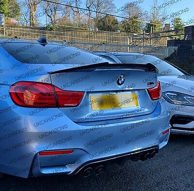 BMW M4 3.0 F82 COUPE Genuine Carbon Fibre Boot Trunk Spoiler UK M Performance
