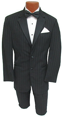High Quality Black 100% Wool Ralph Lauren Pinstriped Tuxedo & Pants Cheap Tux!!!