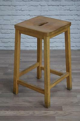 Vintage Industrial Wooden Lab School Cafe Bar Stools (100 Available)