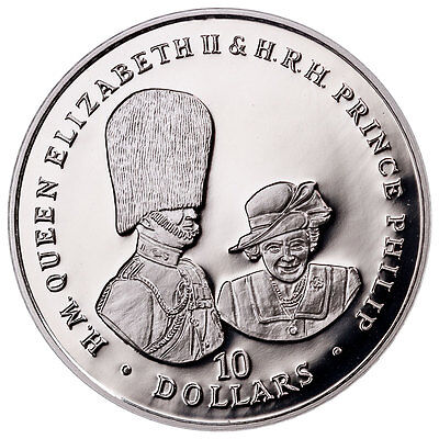 2017 British Virgin Is Queen Elizabeth II & Phillip 1 oz Silver Proof SKU48224