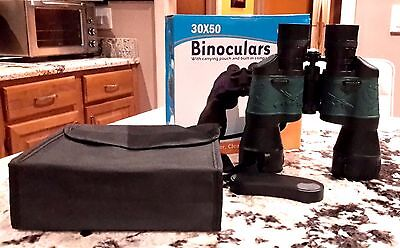 Tectron 30 X 50 Binoculars With Built In Compass And Pouch Brand New In The Box