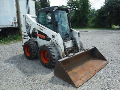 2012 Bobcat S650 Skid Steer Loader With Enclosed Cab / Air / Heat! Kubota Diesel