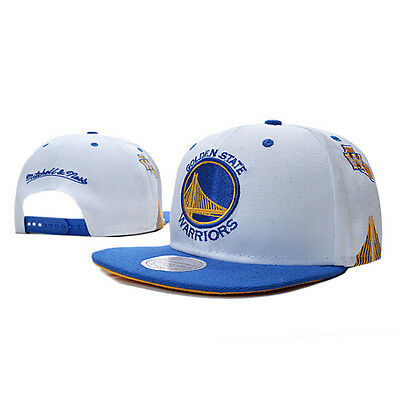 Golden State Warriors hat cap home court field flated adjust NBA white