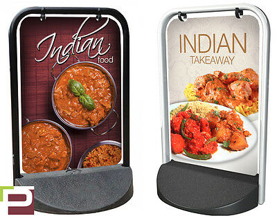 Indian Food Takeaway PAVEMENT SIGN, ADVERTISING, Swinger Sign, A-Board, Curry