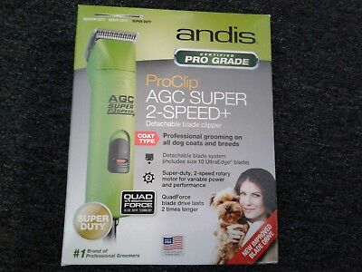 *NEW*Andis ProClip AGC Super 2-Speed+ Detachable Blade Clipper Lime Spring Green