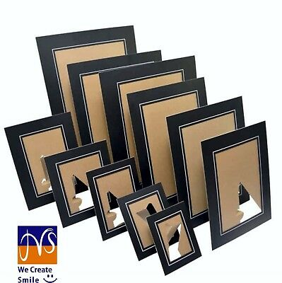 A4 PHOTO MOUNTS-STRUT PACKS-cardboard picture view holders- black only-JMS®