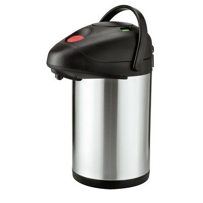 Airpot Air Pot Isolierkanne Thermoskanne Kaffee Kanne Pumpkanne Edelstahl 3L Neu