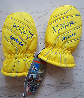 INVICTA fluo vintage muffole guanti NOS gloves ski padded muffol thermo