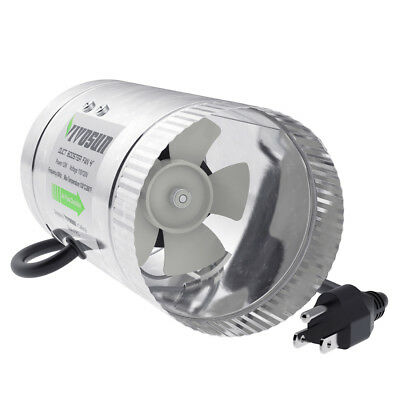 """4"""" inch 100 CFM Inline Duct Booster Fan Exhaust Air Blower Cooling Ventilation"""