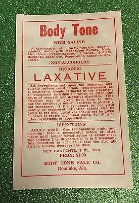 Vintage 1930s Unused Medicine Label /Prohibition labels/Advertising
