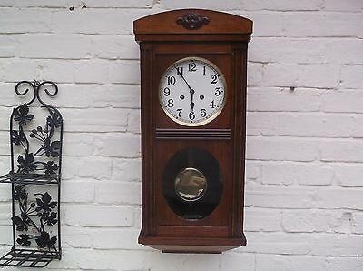 Superb  Wall Clock  Mechanical (Wooden) Gongs The Hour And The Half
