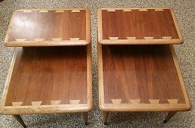 Vintage Mid-century Lane Acclaim 2 Tiered End Tables in Excellent Condition