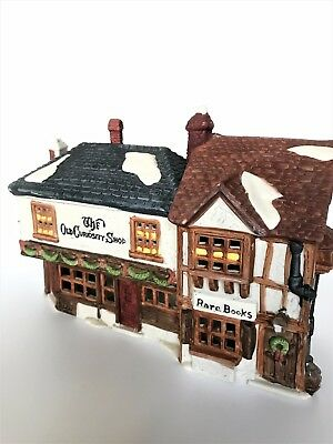 "Retired Dept 56 Dickens Village ""The Old Curiosity Shop,"" w/light, box 5905-6"