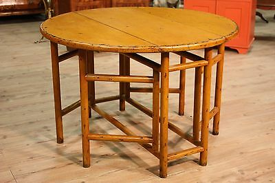 Extendible dining table lacquered furniture wood antique style antiques 900