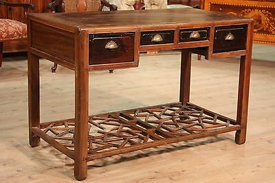 Writing desk table chinese furniture secrétaire wood antique style 900 antiquity