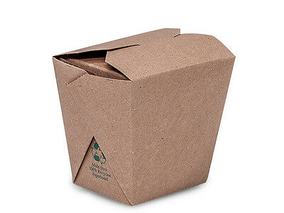 """New Brown Kraft Chinese Take Out Containers (16oz) 3.5""""x2-7/8x3.5"""" - Free Ship"""