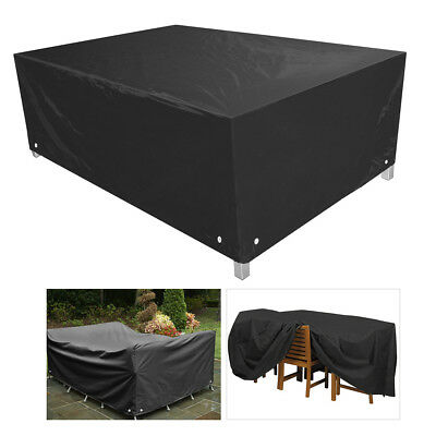 3 Sizes Patio Furniture Cover Outdoor Garden Table Chair Rectangular Shelter