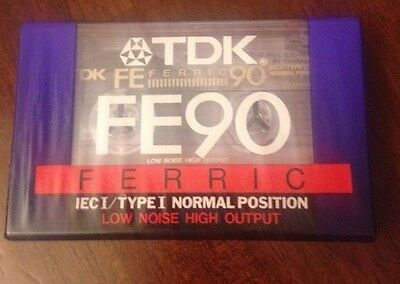 TDK FE90 Ferric Low Noise High Output BLANK TAPE CASSETTES - New & Sealed