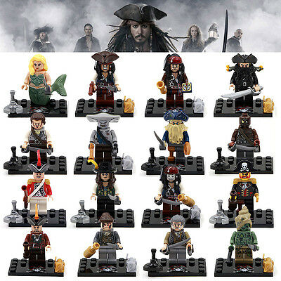 Lot of 16 sets  Pirates of the Caribbean  Jack Sparrow Davie Jones building toys